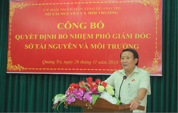 Đ/c Hà Sỹ Đồng - Phó Chủ tịch UBND tỉnh phát biểu tại buổi công bố Quyết định