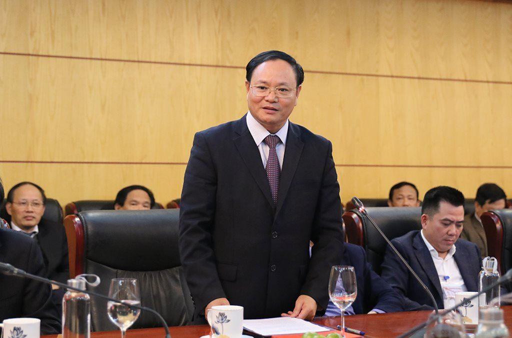 Tân Thứ trưởng Bộ TN&MT Lê Minh Ngân phát biểu nhận nhiệm vụ tại Hội nghị